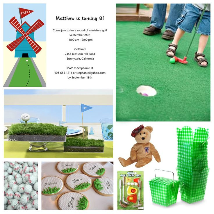 20 Best Miniature Golf Party Theme Ideas Images On