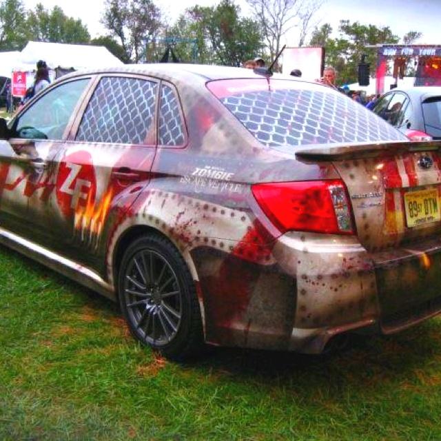 Subaru wrx zombie escape vehicle! Awesome.