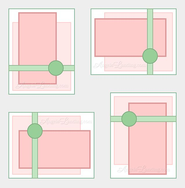 Delightful Card Making Layouts Ideas Part - 4: 4-way Card Sketch For Digital Stamps Layout