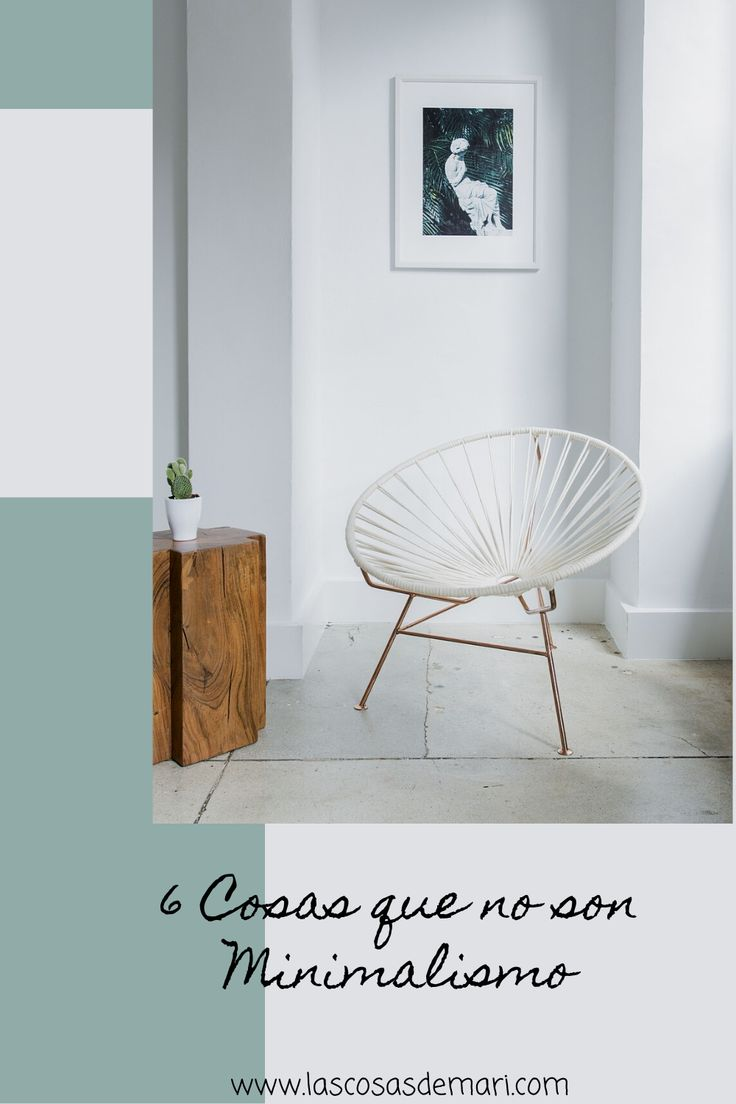 Accent Chairs, Posts, Furniture, Home Decor, Minimalist Lifestyle, Minimalism, Off White Walls, Change Of Life, Life Tips