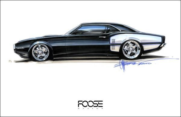 Chip Foose Sketches For Sale | Chip Foose's Wheels Sketches | Dumage