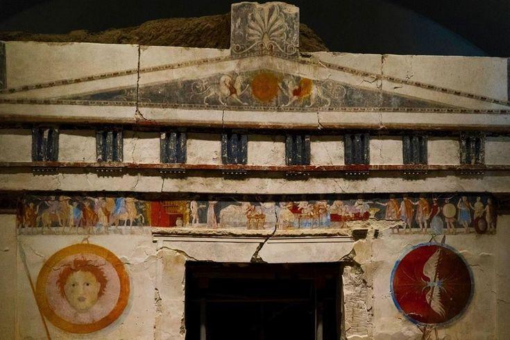 Ancient #Macedonian #tomb of St Athanassios . Vivid #colors of #ancient #Greece. 4th  c. BC.