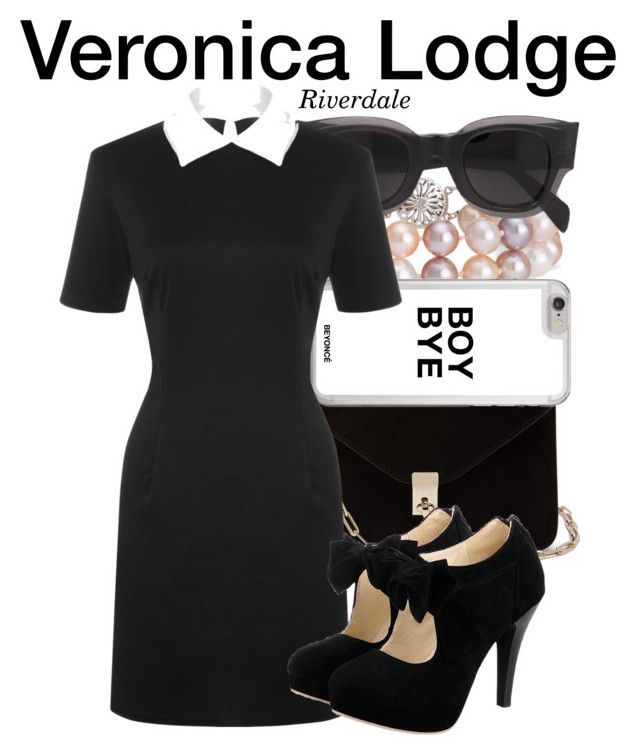"""Veronica Lodge - Riverdale"" by nerd-ville ❤ liked on Polyvore featuring Valentino, Blue Nile, CÉLINE and WearAll"