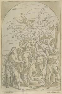Nicolas Le Sueur - Europa And The Bull. Original 1740