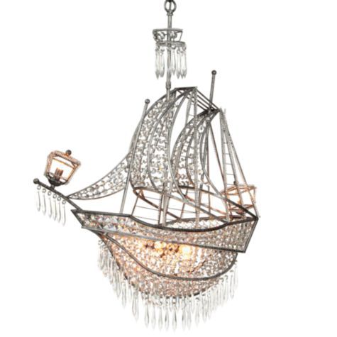 Z Gallerie Crystal Ship Chandelier ($899) - For a bit of whimsy only a ship chandelier could bring.