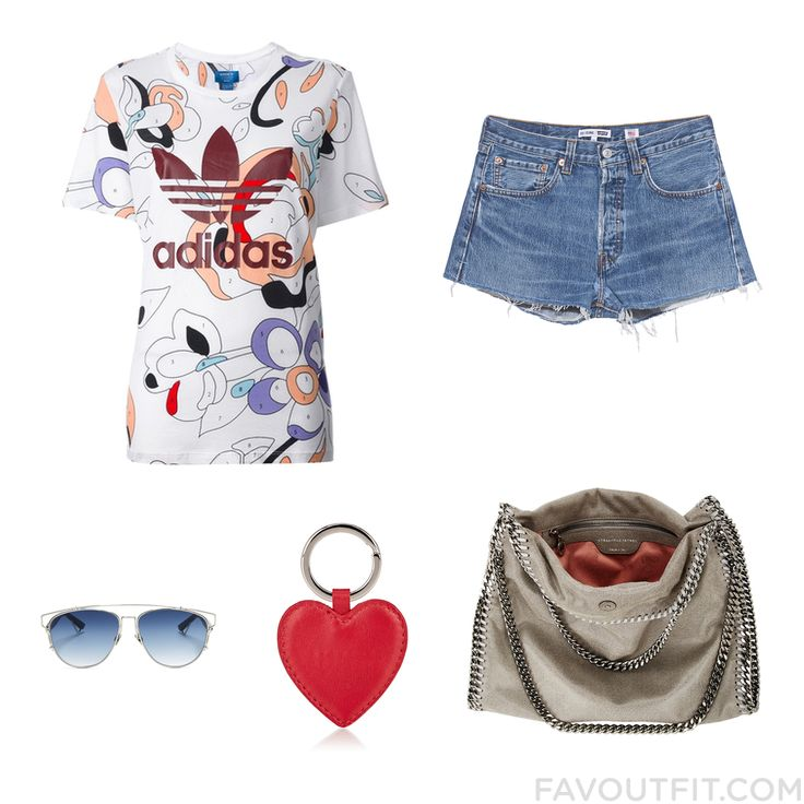 Style Stuff Featuring Adidas Originals T-Shirt Hot Shorts Stella Mccartney Tote Bag And Christian Dior From December 2016 #outfit #look