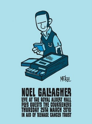 Pete McKee screen prints for Noel Gallagher's Teenage Cancer Trust shows