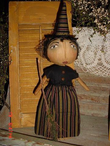 PatternMart.com ::. PatternMart: PM Fancy Primitive Witch Doll Halloween E Pattern