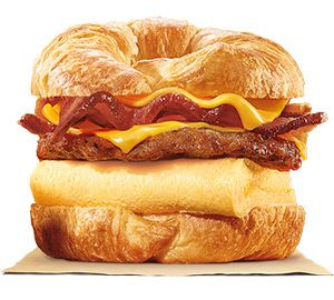 King CROISSAN'WICH® with Sausage & Bacon