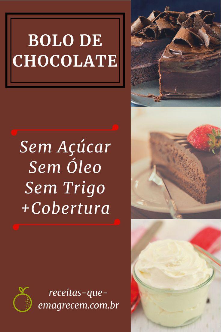 Bolo De Chocolate Delicioso Sem Acucar Sem Farinha E Sem Oleo