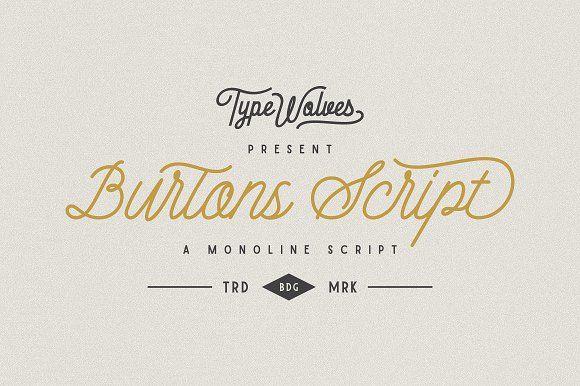 Burtons Script by Typewolves on @creativemarket