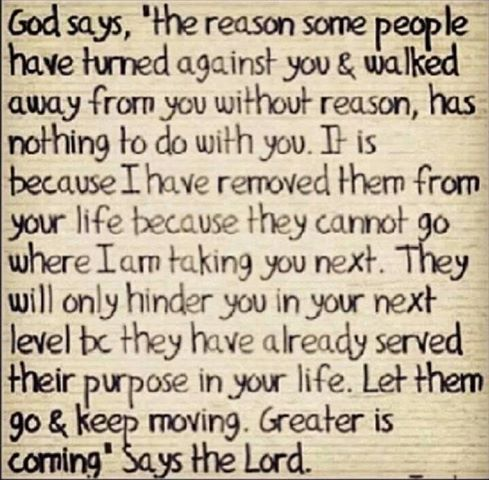 God knows who he wants in or out of our lives
