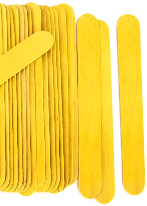 Jumbo Yellow Craft Sticks For Popsicle Stick Crafts And