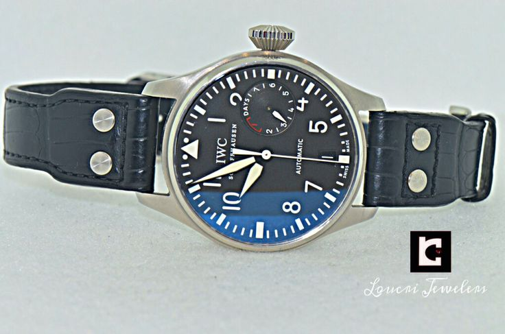 JUST IN!! IWC BIG PILOT'S WATCH 7 Day Power Reserve Feature.Contact us --> sales@loucri.com or call 516 960 7757 for product details and pricing.