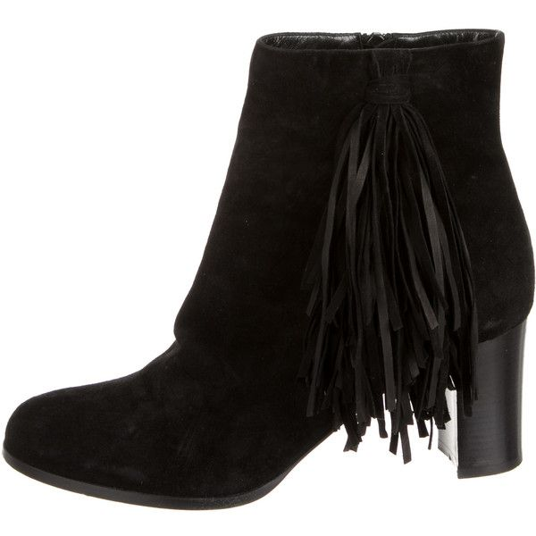 red soul shoes for men - christian louboutin suede fringe-trimmed boots, black louboutins ...
