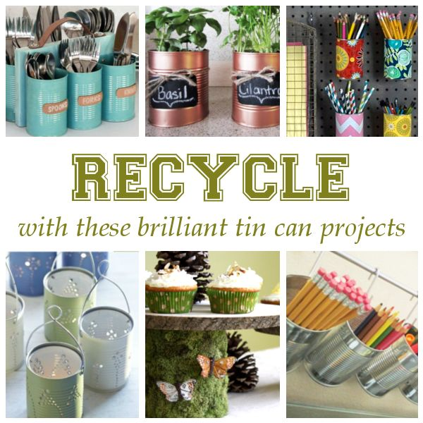 1000 images about diy glass plastic tin can crafts on for Diy recycle ideas