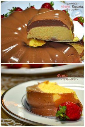 Pudim bicolor de chocolate e maracujá – Você vai ficar surpreso com esse pudim , além de ficar lindo, fica gostoso mesmo! É uma daquelas receitas fáceis que você não consegue fazer uma vez s…