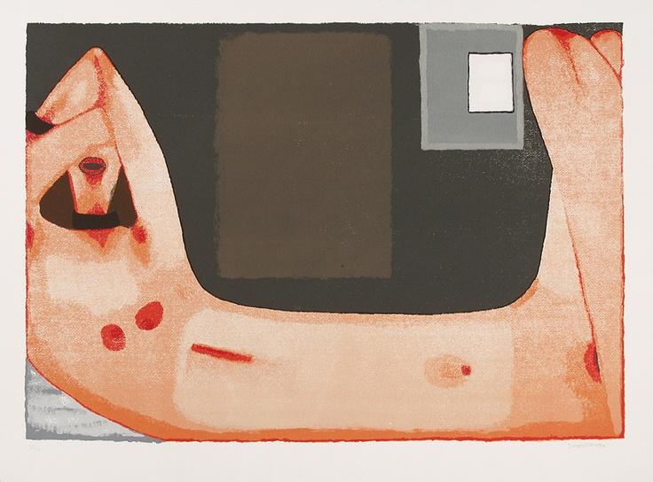 Jerzy Nowosielski   DANAE, 1999   serigraph/paper