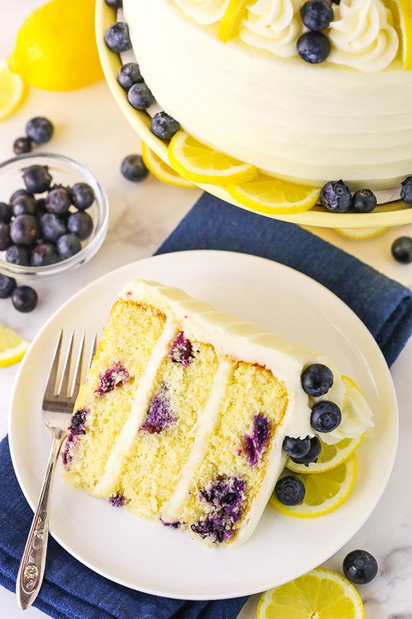 The Best Lemon Blueberry Layer Cake Easy Recipe Recipe Easy Cake Recipes Lemon Blueberry Blueberry Cake Recipes