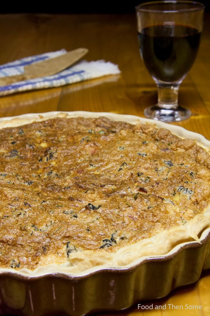 False morel & bacon pie #mushroom