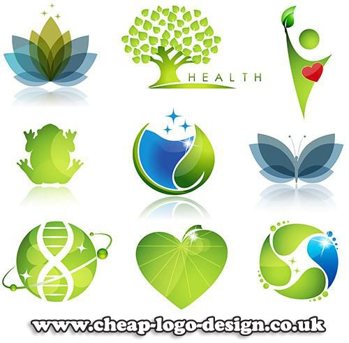 health and well being logo design ideas www.cheap-logo-design.co.uk #healthlogos #greenlogos #logo