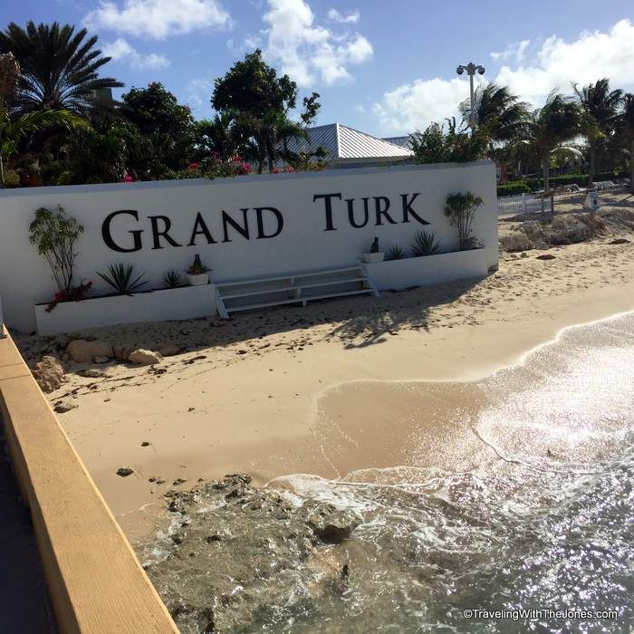 entrance sign, Grand Turk Cruise Center, Grand Turk Island, Turks & Caicos