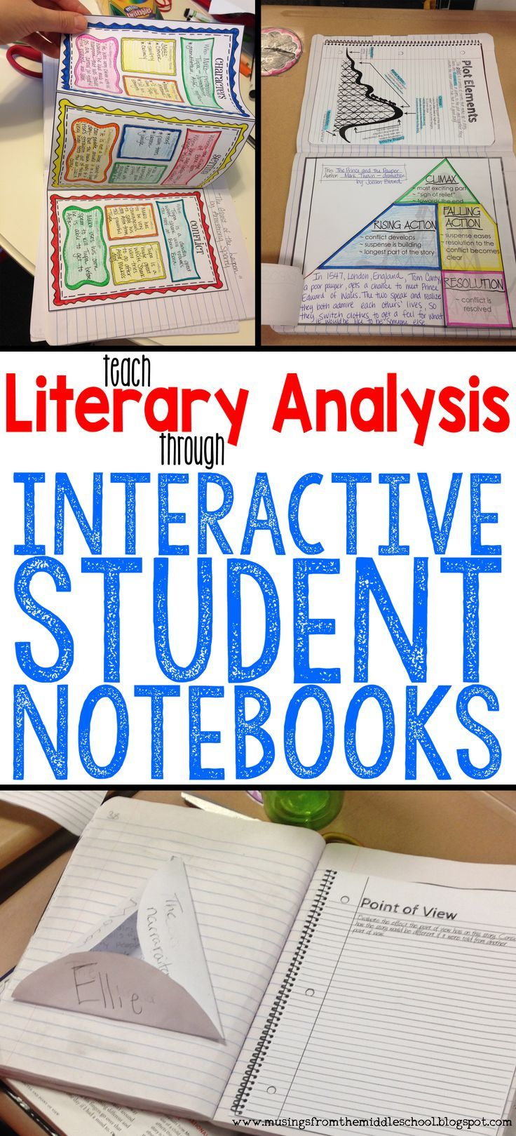 Use your Interactive Student Notebooks to teach Literary Analysis!