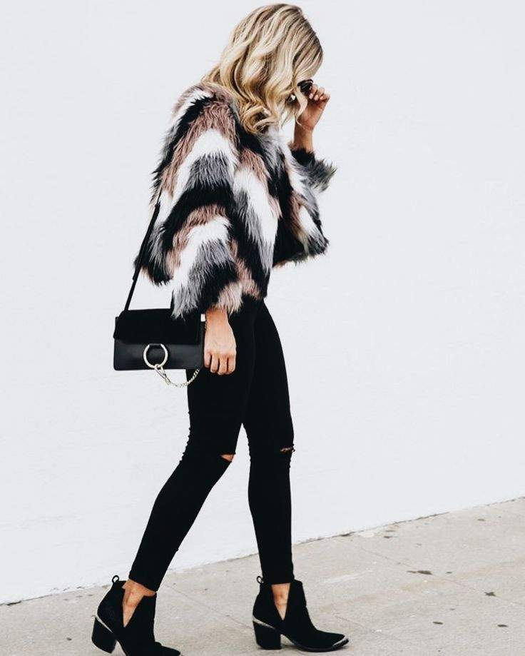 winter outfit, winter ootd, holiday party outfit, faux fur