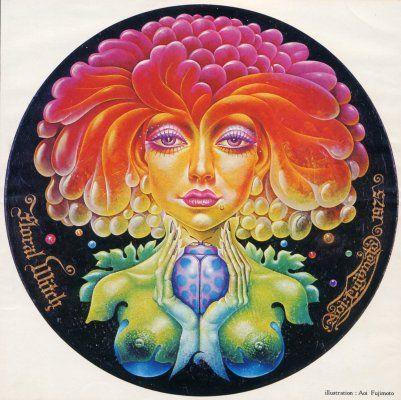 天道虫 Ladybag 1975年「天道虫」 30X30cm木製円板・油彩 銀座ギャラリーデコール
