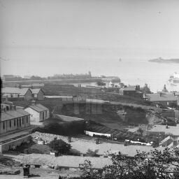[Howth in Co. Dublin, with Martello Tower, pier and Ireland's Eye visible in the distance] by Fergus O'Connor Collection In collection: Fergus O'Connor Collection