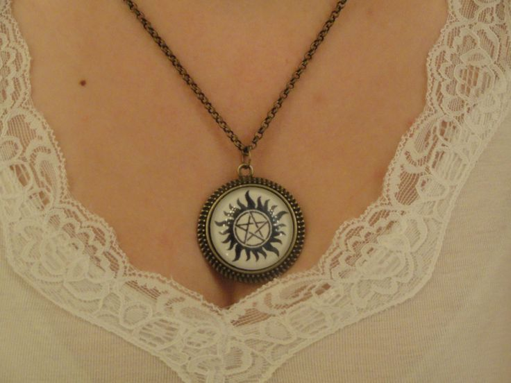 Supernatural AntiPossession Symbol Necklace by PortaeAstrarum  This is really awesome...