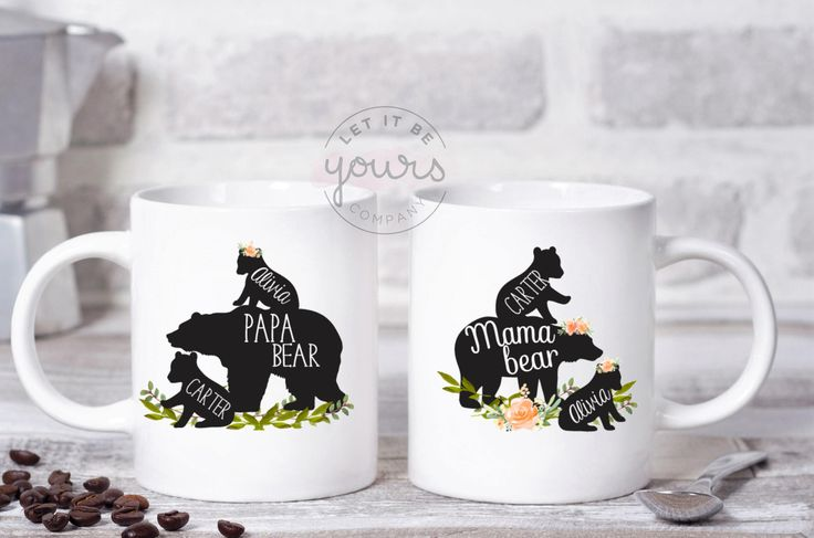 Mama and Papa Bear Mugs, Papa Bear Mug, Papa Bear, Fathers Day, Mother's Day, Baby Shower Gift, Mama Bear Mug, Gift For Mom, Custom Mug by LetItBeYoursCo on Etsy