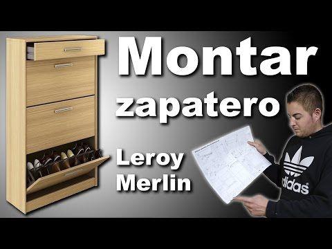Montar mueble zapatero Practic Leroy Merlin - YouTube