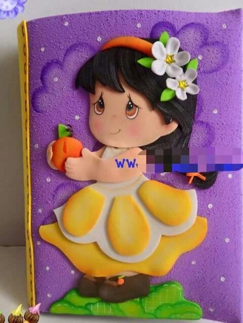 Resultado de imagem para moldes de muñecas en foami para cuadernos