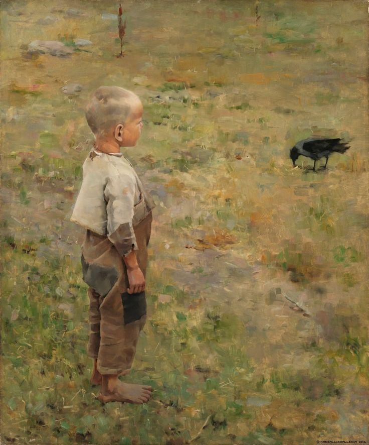 Kansallisgalleria - Taidekokoelmat - Poika ja varis