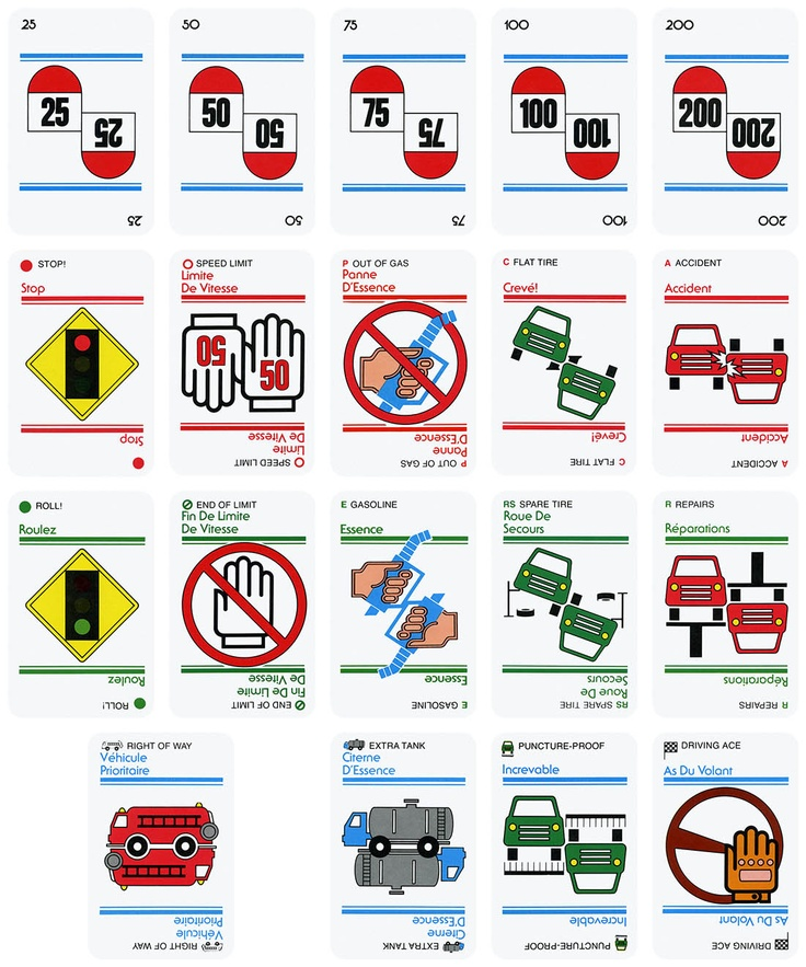 80s mille bornes cards print design pinterest for Dujardin 1000 bornes