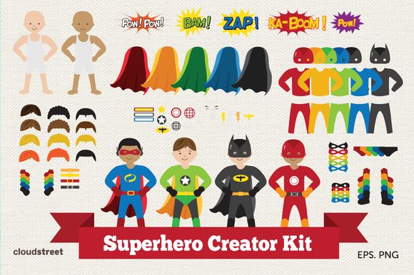 Check out Superhero Creator Kit by cloudstreetlab on Creative Market