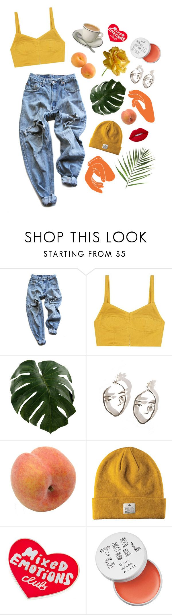 """sunshine"" by feministish ❤ liked on Polyvore featuring Levi's, Isa Arfen, Pavilion Broadway, Tuesday Bassen, too cool for school and Lime Crime"