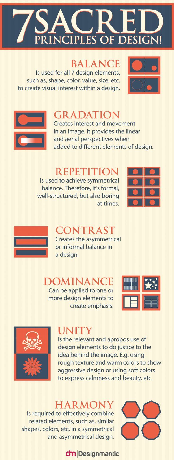 7 Sacred Principles Of Design! Infographic
