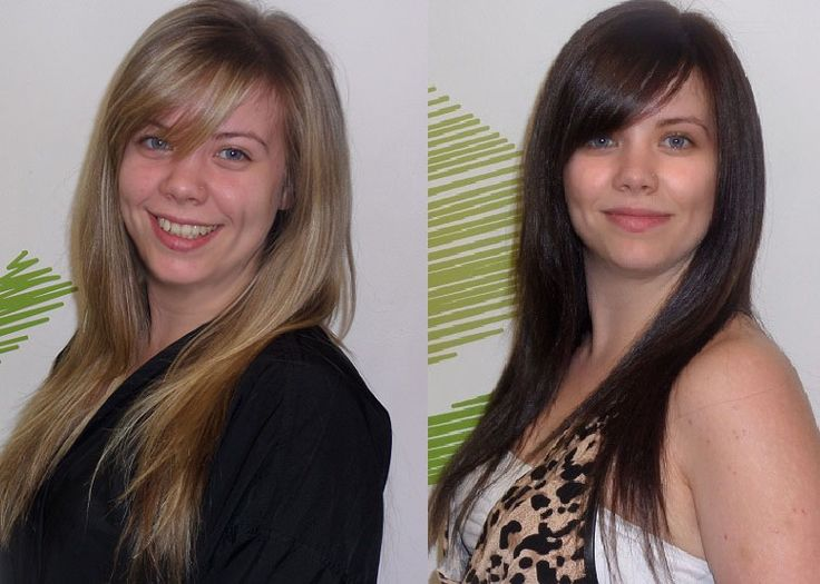 From cute blonde to glamorous brunette in one application with Organic Colour Systems. Hair by Jeremy Macdonald.