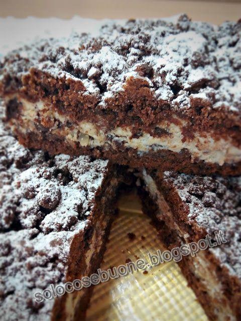 Ricette SoloCoseBuone  : Torta sbriciolata ricotta e cioccolato