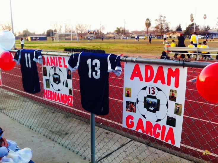 Soccer posters for senior night