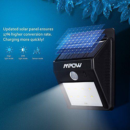 [2*PACK] 8 LED eclairage exterieur imperméable, Mpow eclairage terrasse Sans Fil Détecteur de Mouvement avec, Éclairage de Sécurité / Lampe…