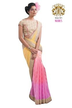 embroidered saree, Multicolor Jacquard Women's Saree