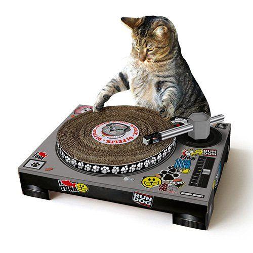 Arbre à chat et griffoir - Griffoir Platine DJ pour chats