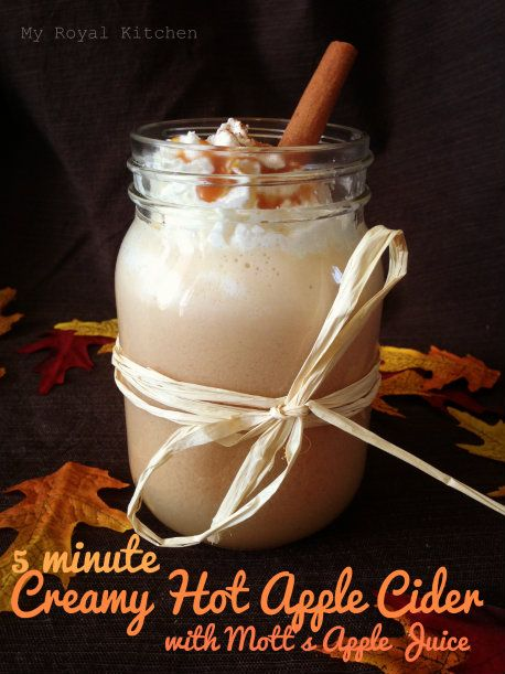 Creamy Hot Apple Cider! OMG, I think this will become a Halloween traditional drink :-)