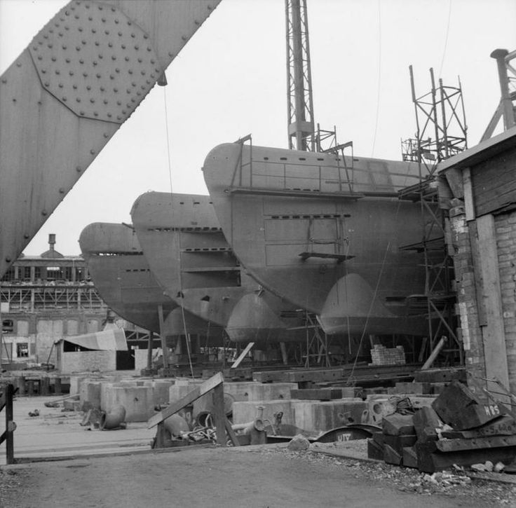 Incomplete German U-boats abandoned at the Blohm and Voss shipyard in Hamburg, 4 May 1945. Submarine production was not among Hitler's priorities and that was one of his many strategic mistakes.If indeed the Allies were to face a significant U-boat force, instead of the few dozen operational submarines at a time, the outcome of the war could have been different.