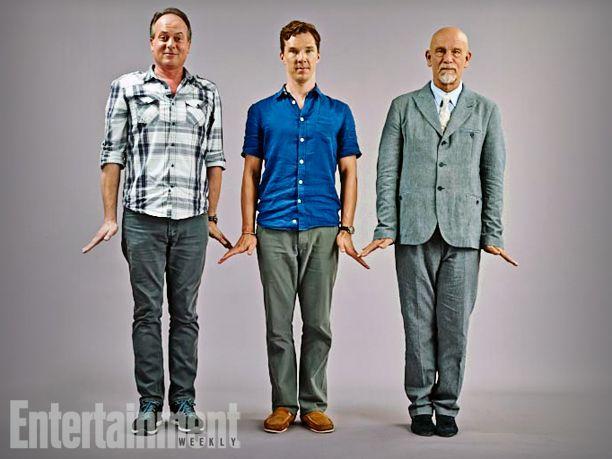 Tom McGrath, Benedict Cumberbatch, and John Malkovich, Penguins of Madagascar - San Diego Comic-Con 2014