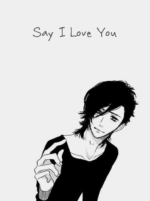 Anime Characters That Look Like Me : Best images about say quot i love you on pinterest