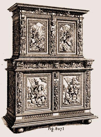 Meuble deux corps Louis XIII